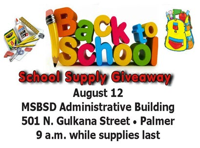MSBSD SCHOOL SUPPLY GIVEAWAY