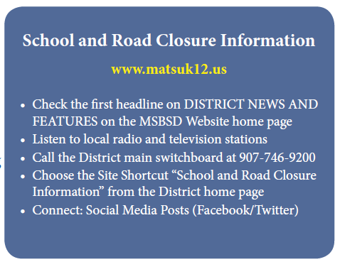 School & Road Closure