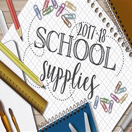 SCHOOL SUPPLY LIST FOR 17-18