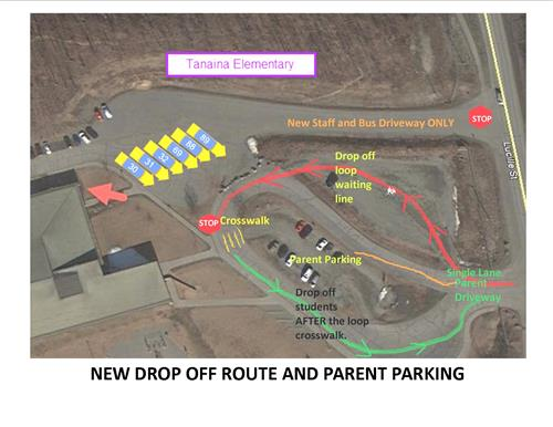 Please note the changes in routing of our parking lot.