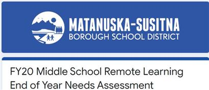 Middle School Remote Learning Year End Needs Assessment