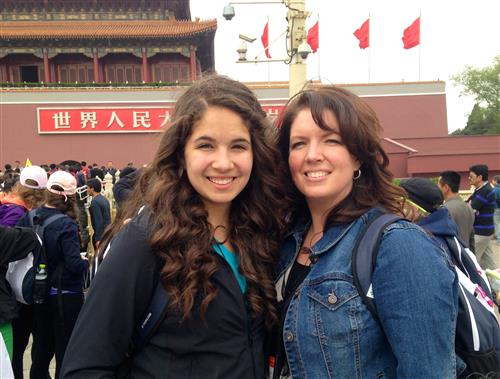 Mrs. Molina and her daughter in Beijing, China 2014