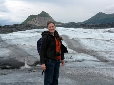 Ms. Renee at Matanuska Glacier