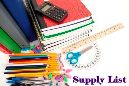 School Supply Lists 2015 - 2016