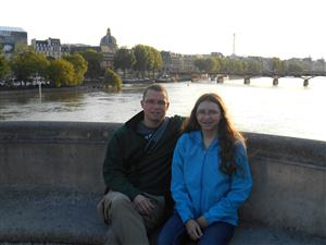 With Aubrey on Pont Neuf