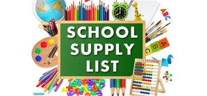 Recommended School Supplies for 2020-2021 School Year