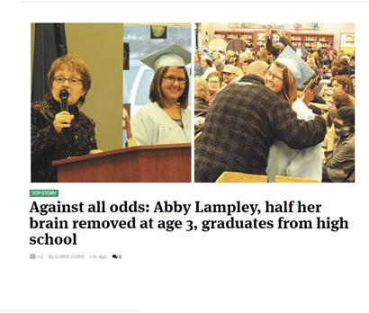 Burchell High School Graduate Abby Lampley featured in front page article of The Frontiersman