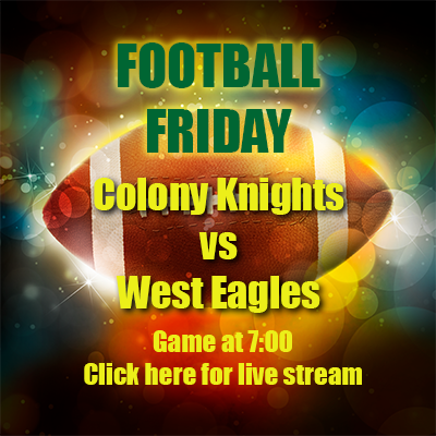 Colony Football vs West Bald Eagles