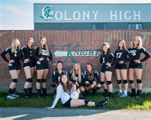 2018-2019 Colony High Varsity Volleyball Team