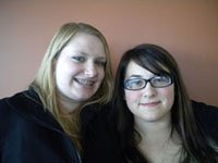 Jessica Harrison and Brianna Leonard
