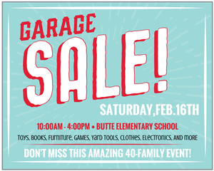Butte PTA Garage Sale
