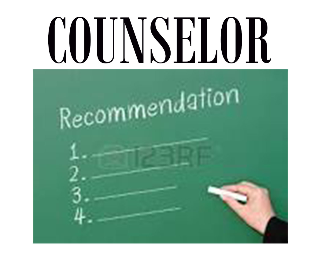 COUNSELOR RECOMMENDATION FORM