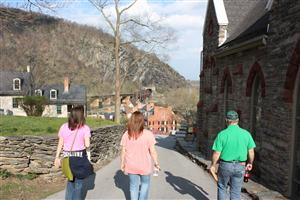 Hiking back from Jefferson's Rock - Harper's Ferry, WV