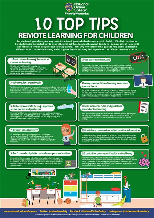 Remote Learning Children