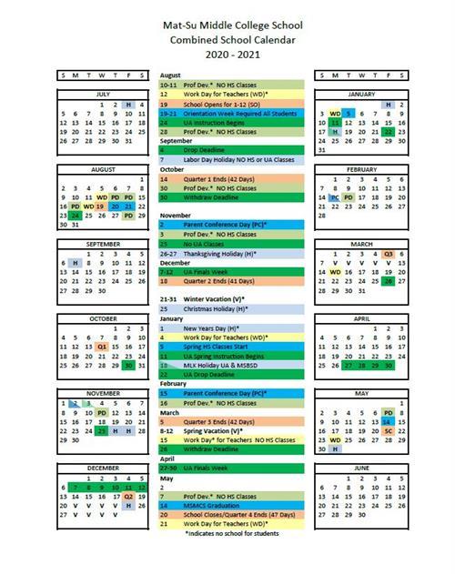 Uaa Calendar 2022.Combined Calendar Msbsd Ua Combined Calendar
