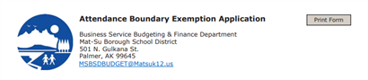 Boundary Exemption Form